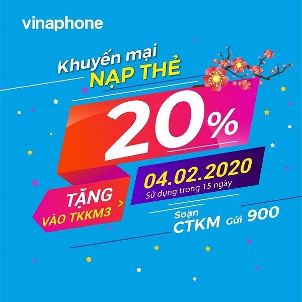 Khuyến mãi của Vinaphone ngày 4/2/2020 ưu đãi cho TB may mắn