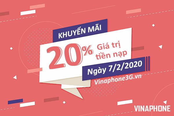 Vinaphone khuyến mãi ngày 7/2/2020 ưu đãi ngày vàng toàn quốc