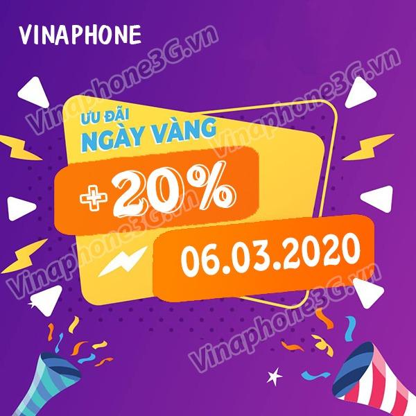 Khuyến mãi Vinaphone ngày 6/3/2020 ưu đãi ngày vàng toàn quôc