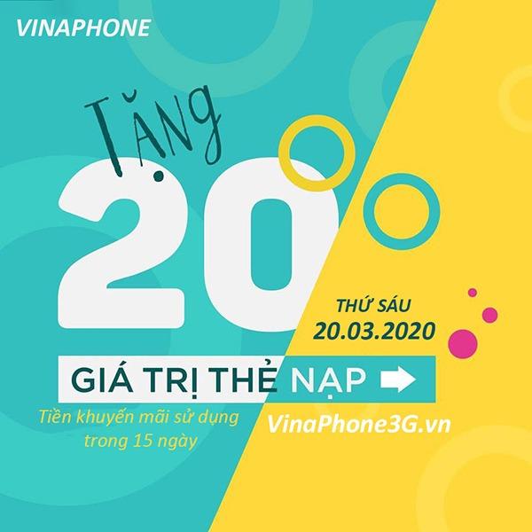 Thông tin chi tiết về chương trình khuyến mãi Vinaphone ngày 20/3/2020