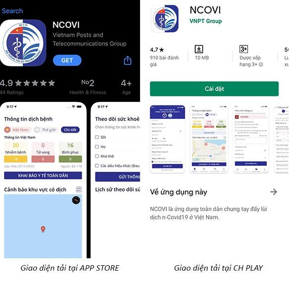 Hướng dẫn cách tải và sử dụng ứng dụng NCOVI khai báo thông tin y tế