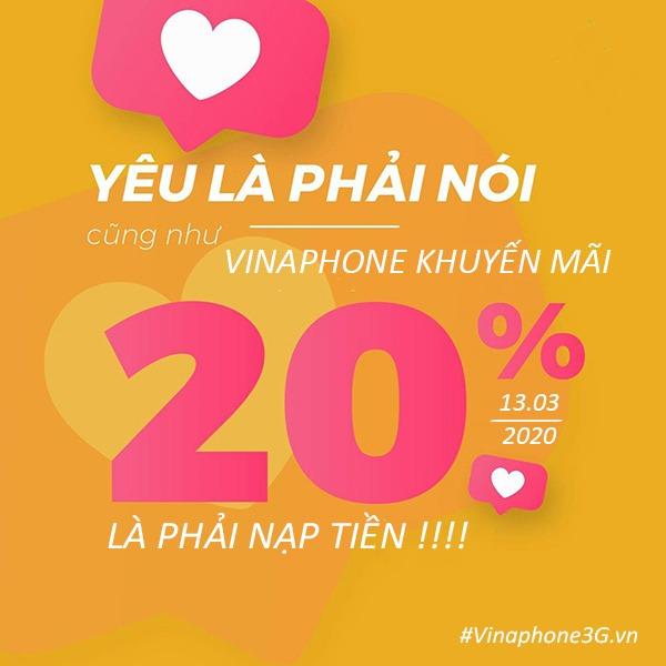 Thông tin chi tiết chương trình khuyến mãi của Vinaphone ngày 13/3/2020