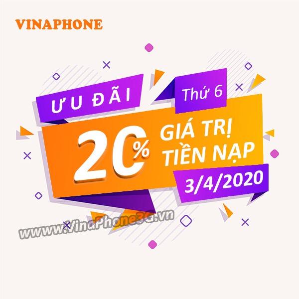 Khuyến mãi Vinaphone ngày 3/4/2020 ưu đãi ngày vàng toàn quốc