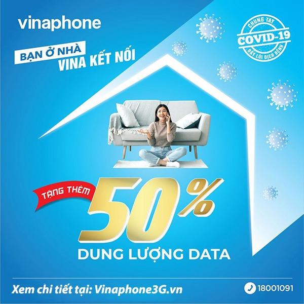 Vinaphone khuyến mãi nhân gấp rưỡi data tốc độ cao 4G Vinaphone