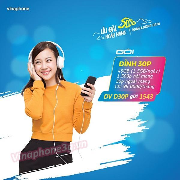 Thông tin chi tiết về gói cước khuyến mãi D30P của Vinaphone