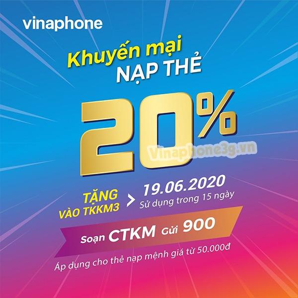 thông tin chi tiết chương trình khuyến mãi Vinaphone 19/6/2020