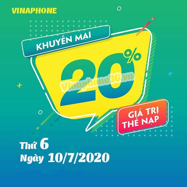 Thông tin chi tiết chương trình khuyến mãi của Vinaphone ngày 10/7/2020
