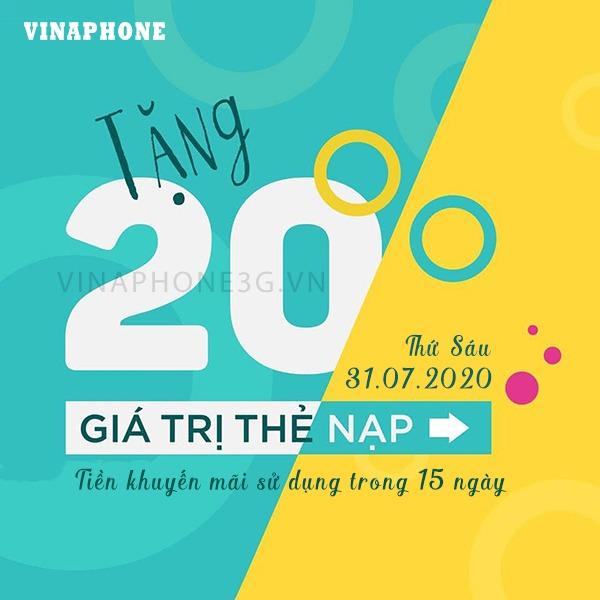 Khuyến mãi Vinaphone ngày 31/7/2020 ưu đãi ngày vàng toàn quốc