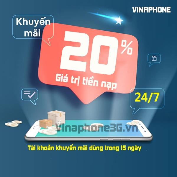 Vinaphone khuyến mãi ngày 24/7/2020 ưu đãi cho TB trả trước