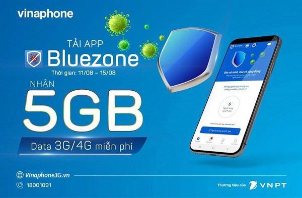 Cách nhận 5GB data khi cài đặt Bluezone thành công