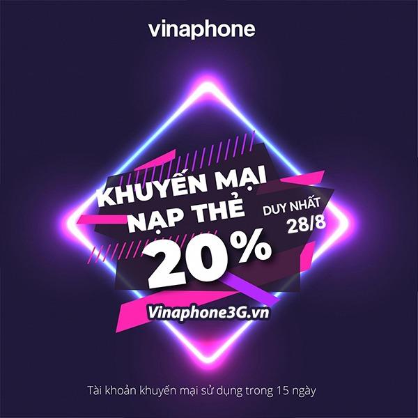 Thông tin chương trình Vinaphone khuyến mãi ngày 28/8/2020