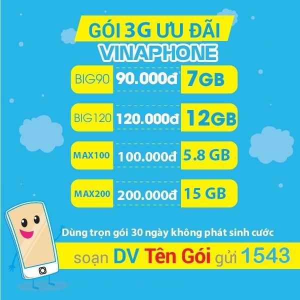 Ưu đãi 1.2GB data tốc độ cao khi đăng ký gói cước VC5 Vinaphone