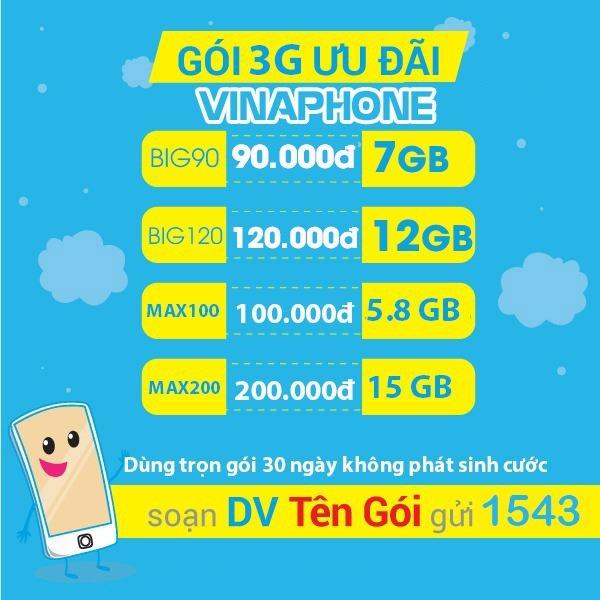 Ưu đãi 1.2GB data tốc độ cao khi đăng ký gói cước V5C Vinaphone