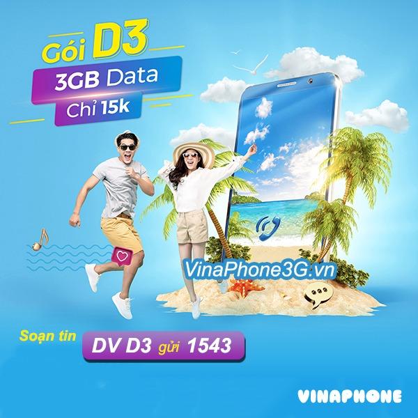 Hướng dẫn cách đăng ký gói cước D3 Vinaphone