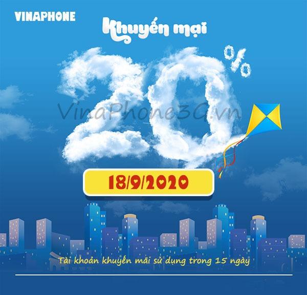 Khuyến mãi Vinaphone ngày 18/9/2020 ưu đãi vàng toàn quốc