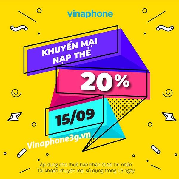 Chi tiết chương trình Vinaphone khuyến mãi ngày 15/9/2020