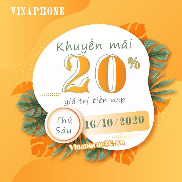 Khuyến mãi Vinaphone ngày 16/10/2020 ưu đãi ngày vàng toàn quốc
