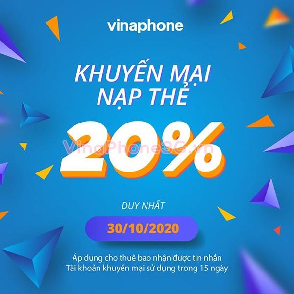 Thông tin chi tiết chương trình Vinaphone khuyến mãi ngày 30/10/2020