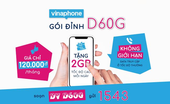 Cách kiểm tra ưu đãi còn lại trong gói cước D60G Vinaphone