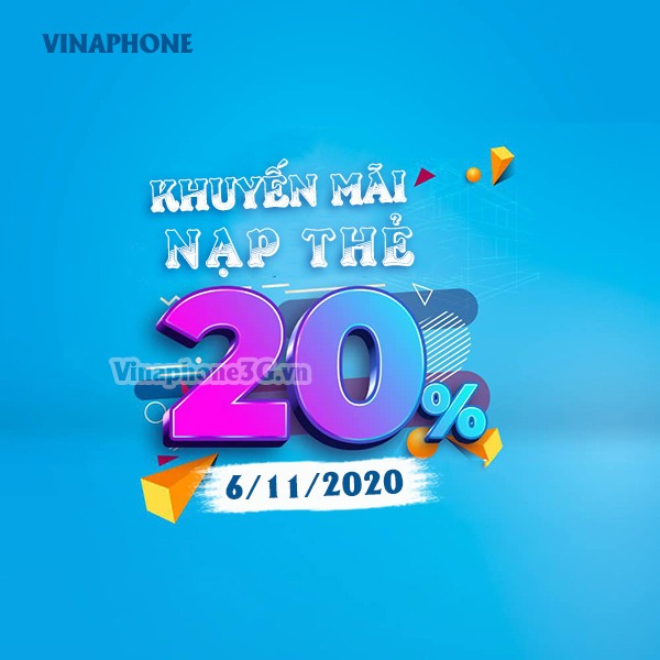Thông tin chi tiết về chương trình Vinaphone khuyến mãi ngày 6/11/2020