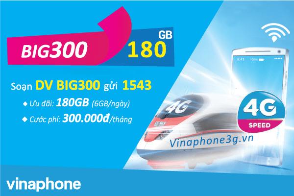 Ưu đãi 180GB data khi đăng ký BIG300 Vinaphone