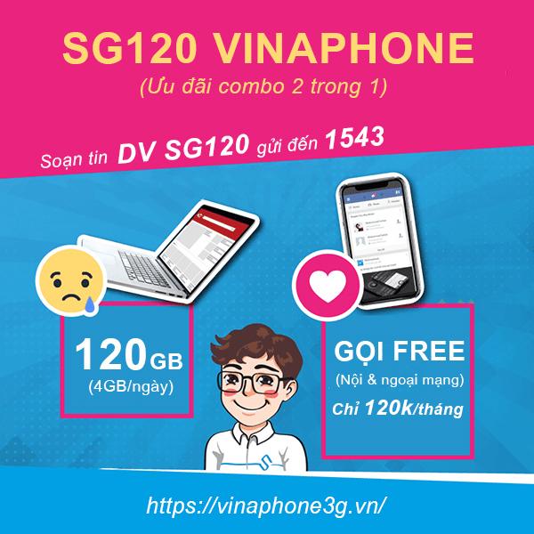 Cách đăng ký gói cước SG120 Vinaphone 3,6,12 tháng