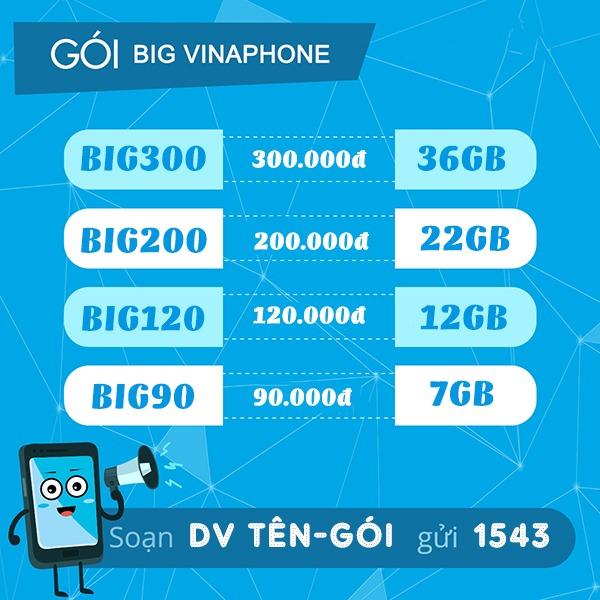 Cách đăng ký gói cước BIG70 Vinaphone 70k
