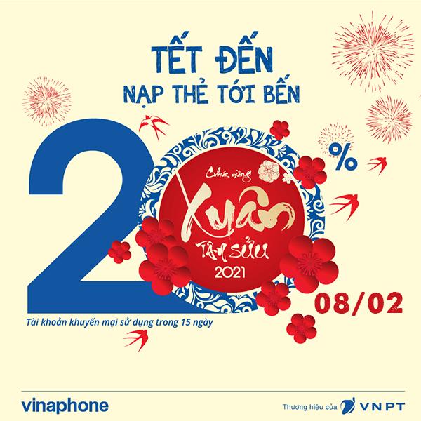 Vinaphone khuyến mãi ngày 8/2/2021 ưu đãi ngày vàng toàn quốc