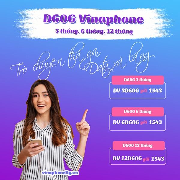 Cách đăng ký gói cước D60G Vinaphone chu kỳ dài 3,6,12 tháng