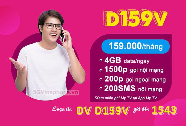 Hướng dẫn cách đăng ký gói cước D159V Vinaphone ưu đãi combo 3 trong 1